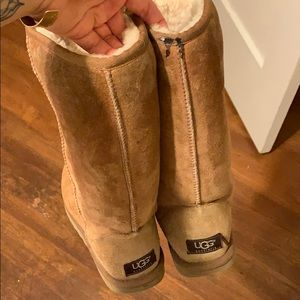 Ugg Tall tan boots size 6